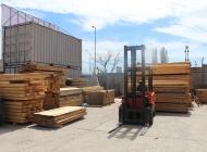 Складова база за дървен материал.